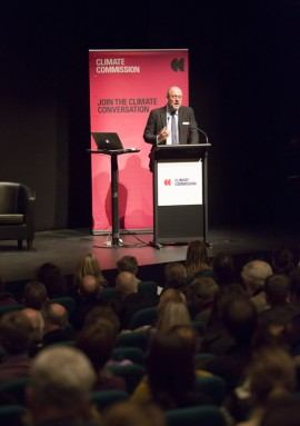 Climate Commission - Tim Flannery at podium